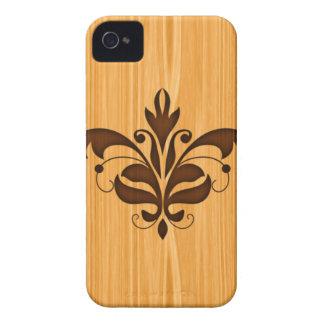 Wood Grain Scroll iPhone 4 Case