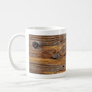 Wood grain sheet of weathered timber mug