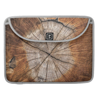 Wood Grain, silver Sleeve For MacBook Pro