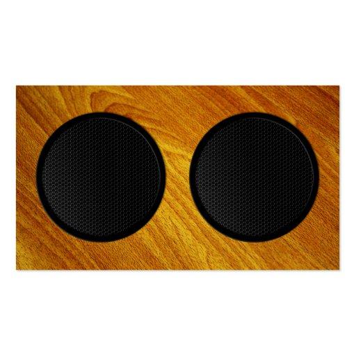 Wood Grain Speaker Cabinet Business Card Templates