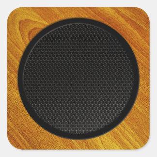 Wood Grain Speaker Cabinet Square Sticker