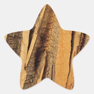 WOOD GRAIN STAR STICKER