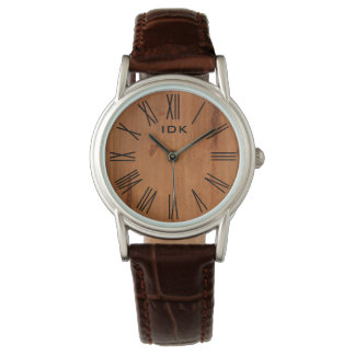 WOOD GRAIN | stylish face with roman numerals Watch