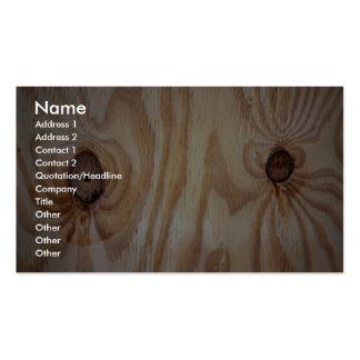 Wood grain texture business card