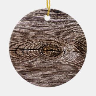Wood Grain Texture Christmas Ornament