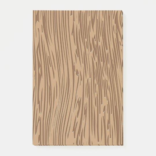 Wood grain texture post-it notes