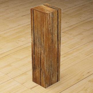 Wood Grain Wine Bottle Box