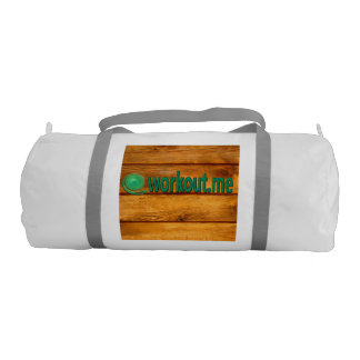 Wood Grain Workout.me duffel bag