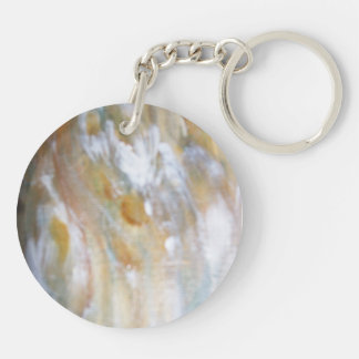 Wood Grains Double-Sided Round Acrylic Key Ring