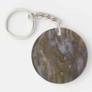 Wood Grains Single-Sided Round Acrylic Key Ring