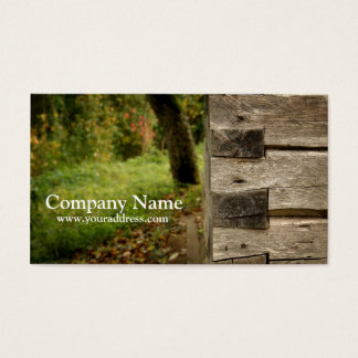 Wood House Corner Carpenter Business Card