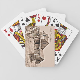 Wood House Playing Cards