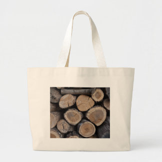 wood in the woodshed large tote bag
