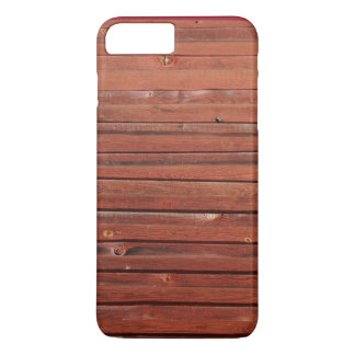 Wood in typical Swedish red iPhone 7 Plus Case