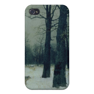 Wood in Winter, 1885 iPhone 4/4S Covers