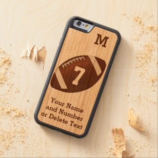 Wood iPhone 6 Football Cases PERSONALIZED