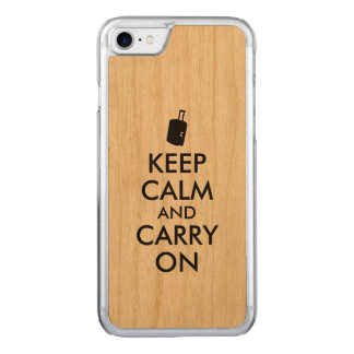 Wood iphone 6 Keep Calm and Carry On Travel Carved iPhone 8/7 Case