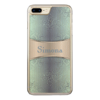 Wood iPhone 7 Plus Floral Abstract Damasks Carved iPhone 8 Plus/7 Plus Case