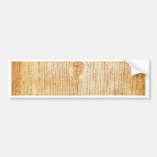 wood.jpg bumper sticker