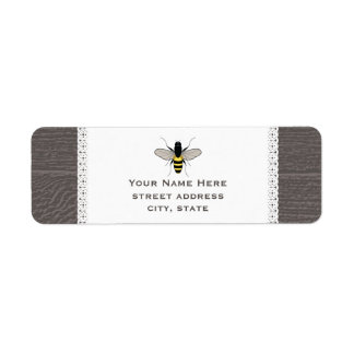 Wood & Lace Inspired Honey Bee Address Label