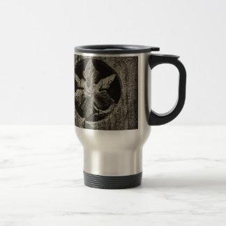 Wood Leaf Stainless Steel Travel Mug
