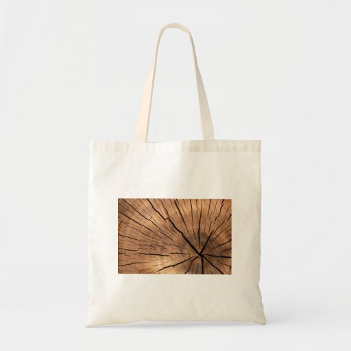 Wood Log Tote Bags
