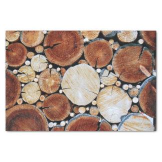 Wood Log Stack Tissue Paper