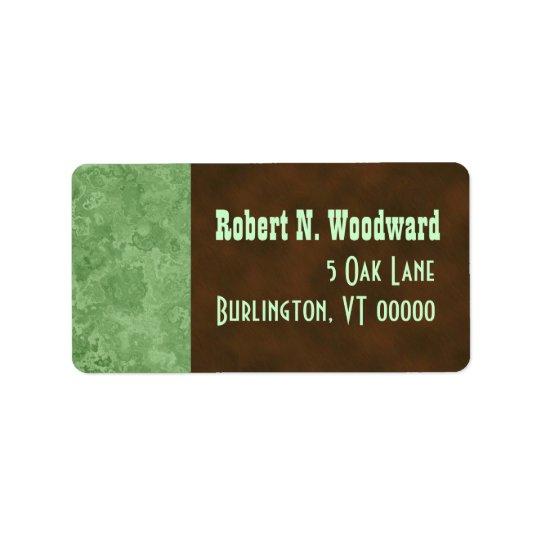 Wood Look Return Address Labels, Medium Address Label