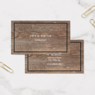 Wood Look Two-Sided Business Card