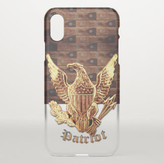 Wood-look with Eagle iPhone X Case