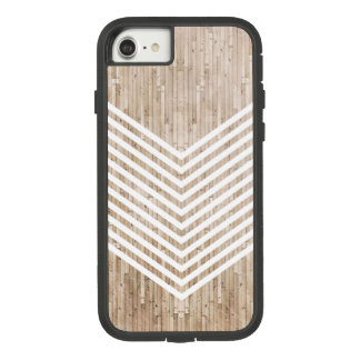 Wood minimalist chevron Case-Mate tough extreme iPhone 8/7 case