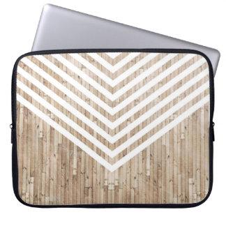Wood minimalist chevron laptop sleeve