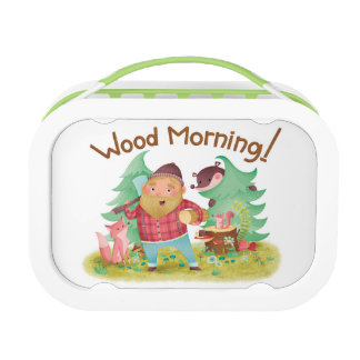 Wood morning lunch box