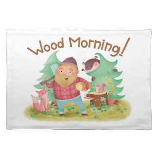 Wood Morning place mat