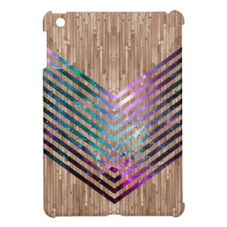 Wood nebula chevron cover for the iPad mini
