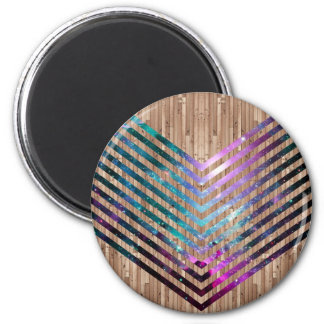 Wood nebula chevron magnet