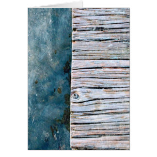 Wood Over Water Blank Greeting Card