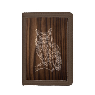 Wood Owl Wallet
