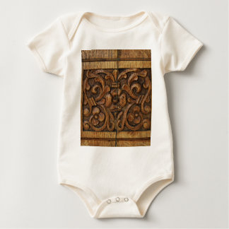 wood panel baby bodysuit