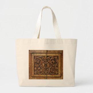 wood panel large tote bag