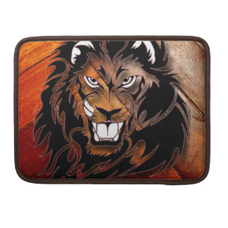 Wood Panel Look and Fearsome Lion Sleeve For MacBooks