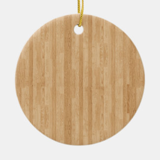 Wood Panel Round Ceramic Decoration