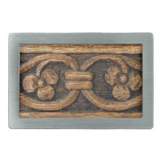 wood panel sculpture rectangular belt buckles