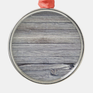 wood panel Silver-Colored round decoration