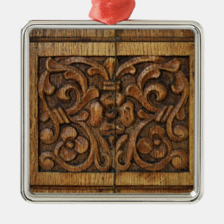 wood panel Silver-Colored square decoration
