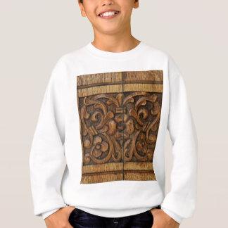 wood panel sweatshirt