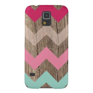 Wood pastel chevron zigzag zig zag pattern chic galaxy s5 cases
