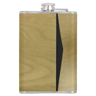 wood pattern hip flask