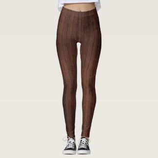 Wood pattern legging