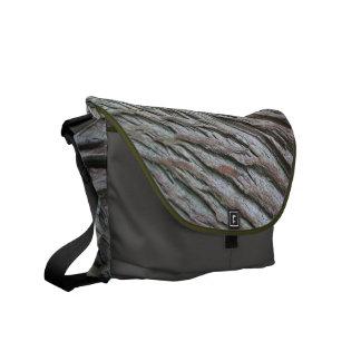 Wood Pattern Messenger Bag